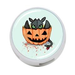 Halloween Dragon 4 Port Usb Hub (one Side) by lvbart