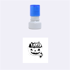 Halloween Dragon Rubber Round Stamps (small) by lvbart