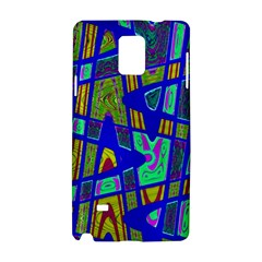 Bright Blue Mod Pop Art  Samsung Galaxy Note 4 Hardshell Case by BrightVibesDesign
