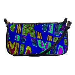 Bright Blue Mod Pop Art  Shoulder Clutch Bags by BrightVibesDesign