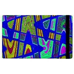 Bright Blue Mod Pop Art  Apple Ipad 3/4 Flip Case by BrightVibesDesign