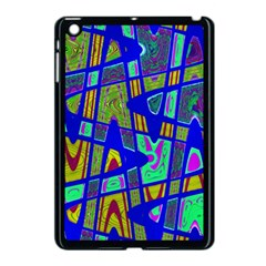 Bright Blue Mod Pop Art  Apple Ipad Mini Case (black) by BrightVibesDesign