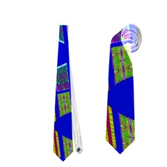 Bright Blue Mod Pop Art  Neckties (two Side)  by BrightVibesDesign