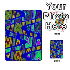 Bright Blue Mod Pop Art  Multi-purpose Cards (Rectangle)  by BrightVibesDesign