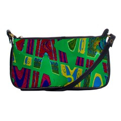 Bright Green Mod Pop Art Shoulder Clutch Bags by BrightVibesDesign