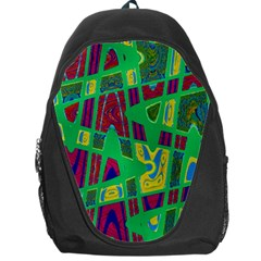Bright Green Mod Pop Art Backpack Bag by BrightVibesDesign