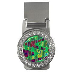 Bright Green Mod Pop Art Money Clips (cz)  by BrightVibesDesign