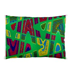 Bright Green Mod Pop Art Pillow Case by BrightVibesDesign