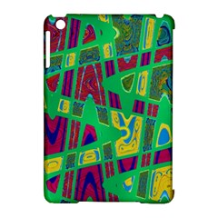 Bright Green Mod Pop Art Apple Ipad Mini Hardshell Case (compatible With Smart Cover) by BrightVibesDesign