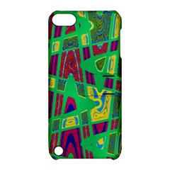 Bright Green Mod Pop Art Apple Ipod Touch 5 Hardshell Case With Stand