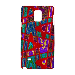 Bright Red Mod Pop Art Samsung Galaxy Note 4 Hardshell Case by BrightVibesDesign