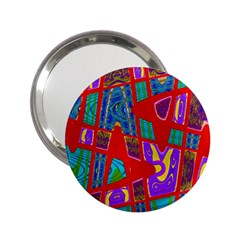 Bright Red Mod Pop Art 2.25  Handbag Mirrors by BrightVibesDesign