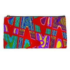 Bright Red Mod Pop Art Pencil Cases by BrightVibesDesign