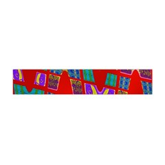Bright Red Mod Pop Art Flano Scarf (mini) by BrightVibesDesign