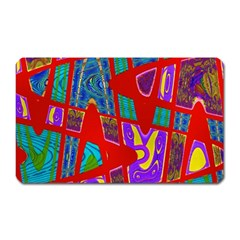 Bright Red Mod Pop Art Magnet (Rectangular) by BrightVibesDesign