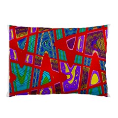 Bright Red Mod Pop Art Pillow Case by BrightVibesDesign