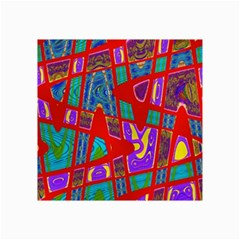 Bright Red Mod Pop Art Collage Prints by BrightVibesDesign