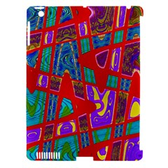 Bright Red Mod Pop Art Apple Ipad 3/4 Hardshell Case (compatible With Smart Cover) by BrightVibesDesign