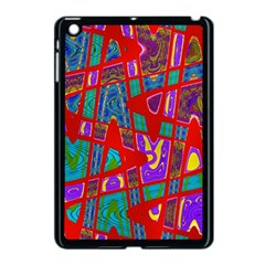 Bright Red Mod Pop Art Apple Ipad Mini Case (black) by BrightVibesDesign