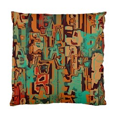Brown Green Texture                              standard Cushion Case (two Sides) by LalyLauraFLM