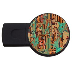Brown Green Texture                              			usb Flash Drive Round (4 Gb) by LalyLauraFLM