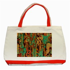 Brown Green Texture                              			classic Tote Bag (red) by LalyLauraFLM