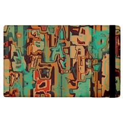 Brown Green Texture                              			apple Ipad 3/4 Flip Case by LalyLauraFLM