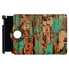 Brown Green Texture                              			apple Ipad 2 Flip 360 Case by LalyLauraFLM