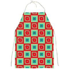 Blue Red Squares Pattern                                			full Print Apron by LalyLauraFLM