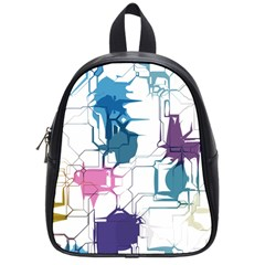 Cracked Wall                                 			school Bag (small) by LalyLauraFLM