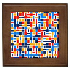 Colorful Shapes                                  			framed Tile