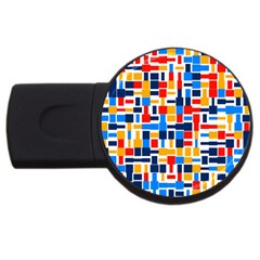 Colorful shapes                                  			USB Flash Drive Round (1 GB) by LalyLauraFLM