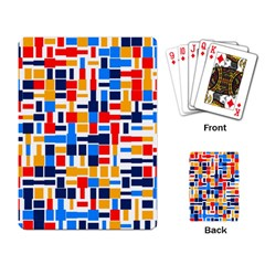 Colorful Shapes                                  			playing Cards Single Design by LalyLauraFLM