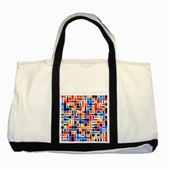 Colorful Shapes                                  			two Tone Tote Bag by LalyLauraFLM