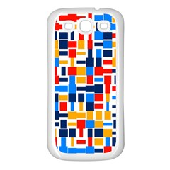 Colorful Shapes                                  			samsung Galaxy S3 Back Case (white) by LalyLauraFLM