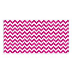 Hot Pink & White Zigzag Pattern Satin Shawl by Zandiepants