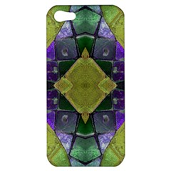 Purple Yellow Stone Abstract Apple Iphone 5 Hardshell Case by BrightVibesDesign