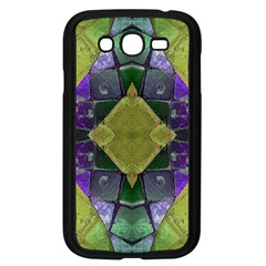 Purple Yellow Stone Abstract Samsung Galaxy Grand Duos I9082 Case (black) by BrightVibesDesign