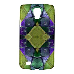 Purple Yellow Stone Abstract Galaxy S4 Active by BrightVibesDesign