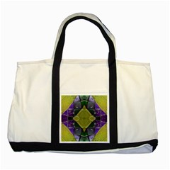 Purple Yellow Stone Abstract Two Tone Tote Bag by BrightVibesDesign