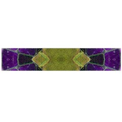 Purple Yellow Stone Abstract Flano Scarf (Large) by BrightVibesDesign