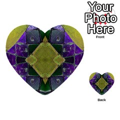 Purple Yellow Stone Abstract Multi Purpose Cards (heart)  by BrightVibesDesign
