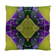 Purple Yellow Stone Abstract Standard Cushion Case (two Sides) by BrightVibesDesign