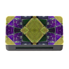 Purple Yellow Stone Abstract Memory Card Reader with CF by BrightVibesDesign