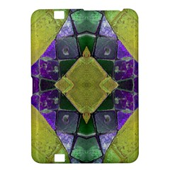 Purple Yellow Stone Abstract Kindle Fire Hd 8 9  by BrightVibesDesign