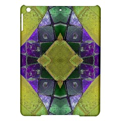 Purple Yellow Stone Abstract Ipad Air Hardshell Cases by BrightVibesDesign