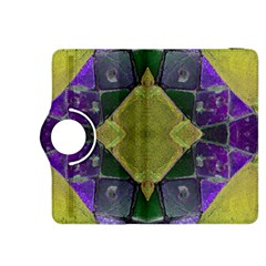 Purple Yellow Stone Abstract Kindle Fire Hdx 8 9  Flip 360 Case by BrightVibesDesign