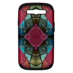 Pink Turquoise Stone Abstract Samsung Galaxy S Iii Hardshell Case (pc+silicone) by BrightVibesDesign