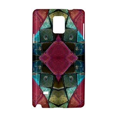 Pink Turquoise Stone Abstract Samsung Galaxy Note 4 Hardshell Case by BrightVibesDesign