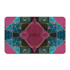 Pink Turquoise Stone Abstract Magnet (rectangular) by BrightVibesDesign